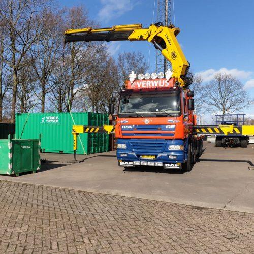 DAF CF + HMF ODIN 5020i - Auto laad kraan- Oosterland - Zeeland- Goes- Rotterdam