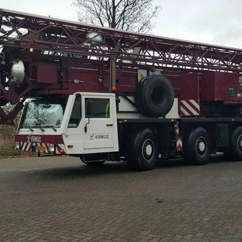 Spierings SK488-AT4 - Torenkraan - Verwijs Verhuur Zeeland - Bel voor een offerte